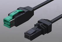 Powered usb 12V to RJ48 10P cable